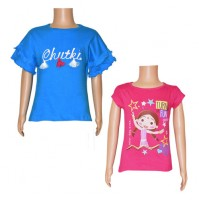 Chutki Tops Combo Teal Blue and Magenta