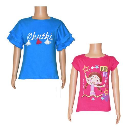 Chutki Tops Combo Teal Blue and Magenta
