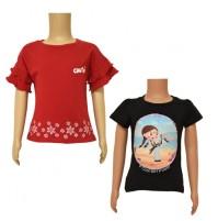 Chutki T-shirts- Combo Black and Red