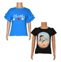 Chutki Tops- Combo Black and Teal Blue