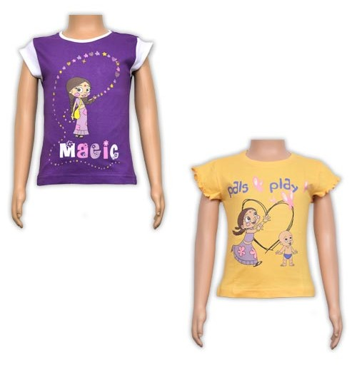 Girls Top Combo - Purple and Yellow