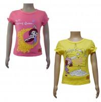 Girls Top Combo - Fuchsia & Yellow