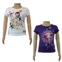 Girls Top Combo - White and Purple