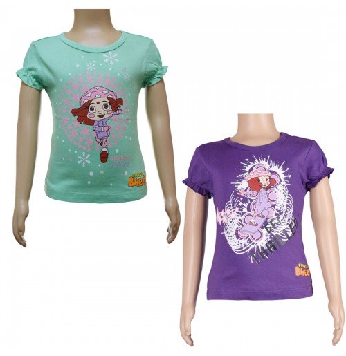 Girls Top Combo - Green and Purple