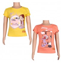 Girls Top Combo - Yellow and Red