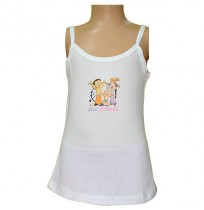Chhota Bheem White - Girls Vest