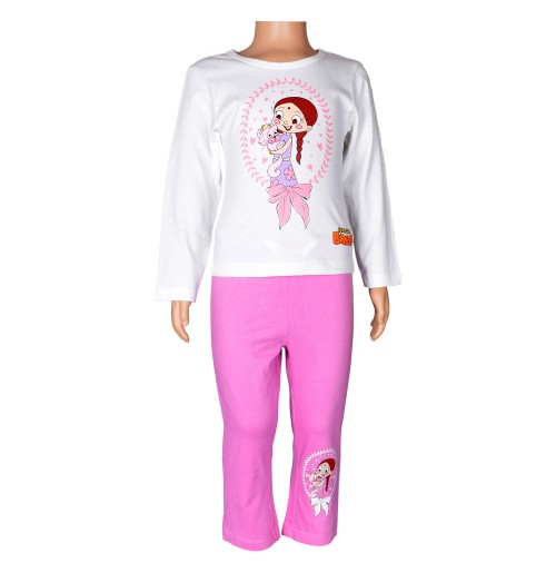 Chutki Night Suit White and Pink