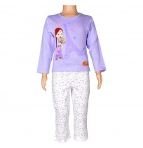 Chutki Night Suit Lavender and White