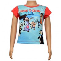 Girls Sublimation Top - Blue and Pink