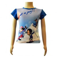 Girls Sublimation Top - purple and Blue