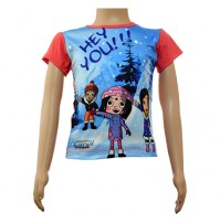 Girls Sublimation Top - Red and Purple