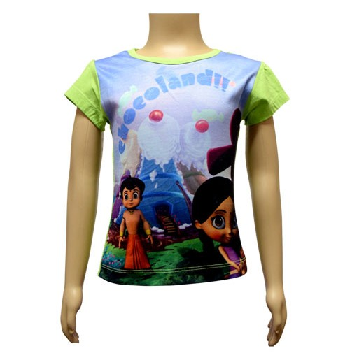 Girls Sublimation Top - Green and Purple