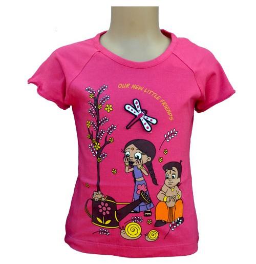 Chhota Bheem Girls Top - Fuchsia