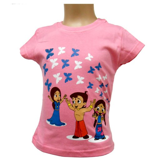 Chhota Bheem Girls Top - Baby Pink