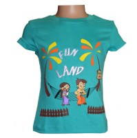 Chhota Bheem Girls Top - Turquoise