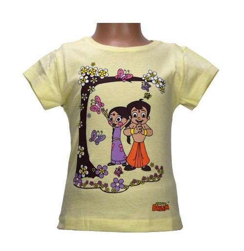 Chhota Bheem Girls Top - Cream White