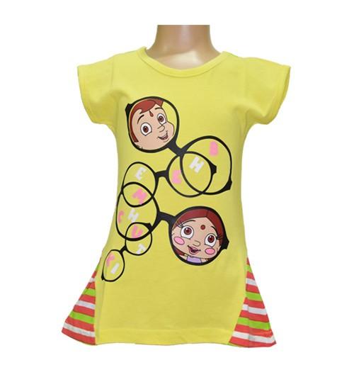 Chutki and Chhota Bheem Girls Top - Yellow