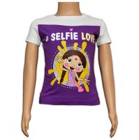 Chutki Printed Girls Top - Purple