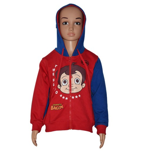 Chhota Bheem Hoodies - Blue and Red