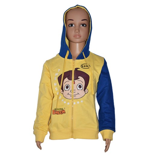Chhota Bheem Hoodies - Blue and Yellow