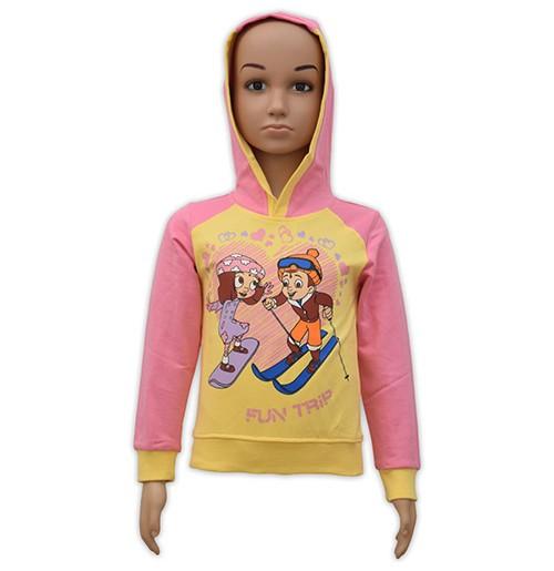 Chutki Hoodie - Yellow and Pink