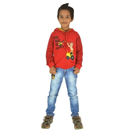 Chhota Bheem Hoodie - Red