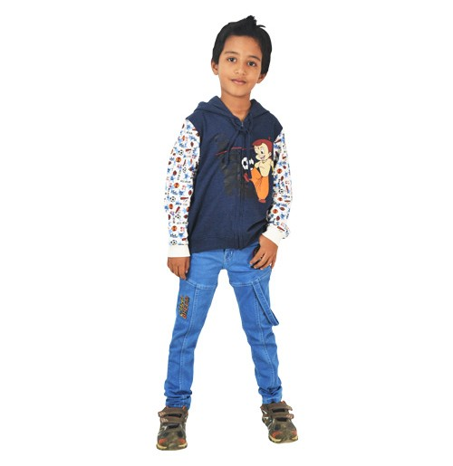 Chhota Bheem Hoodie - Melange
