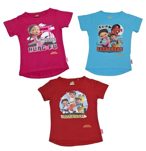 Kung Fu Dhamaka Combo T Shirt  for Girls Online