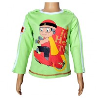 Mighty Raju Full Sleeve T-Shirt - Lime Green
