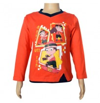 Mighty Raju Full Sleeve T-Shirt - Fiesta Red