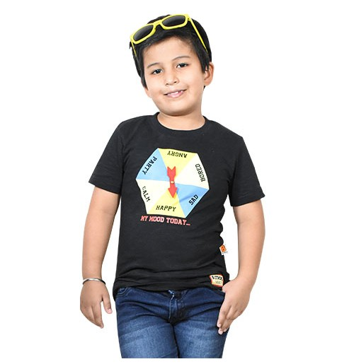 Chhota Bheem - My Mood Today Half Sleeve T-Shirt - Dark Melange