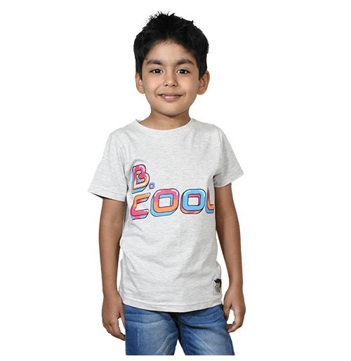 Chhota Bheem Be Cool T-shirt - Light Grey Melange