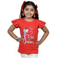 Chutki Love To Dance Half Sleeve T-Shirt - Red