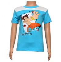 Chhota Bheem Printed Boys T-Shirt - Turquoise