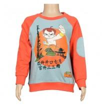 Chhota Bheem Sweat Shirt - Red and Grey