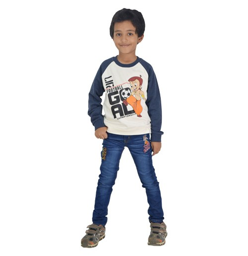 Chhota Bheem - Sweat Shirt - White