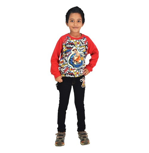 Chhota Bheem - Sweat Shirt - Red