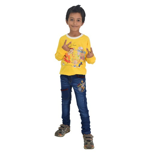 Chhota Bheem Sweat Shirt-Yellow