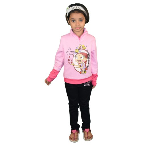 Chutki Sweat Shirt - Pink
