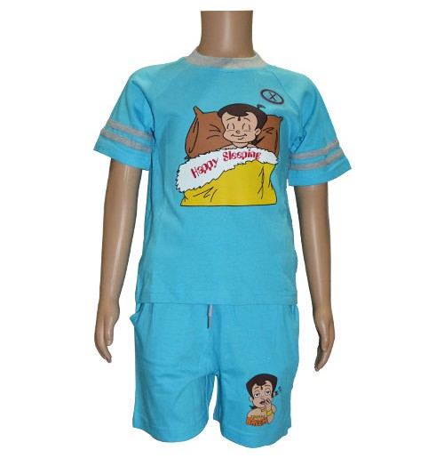 Chhota Bheem Night Dress - Blue