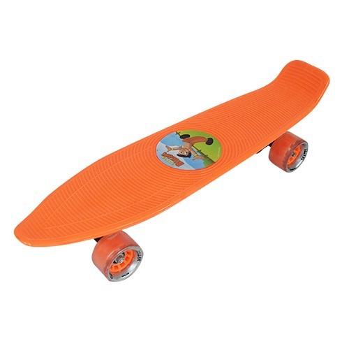 Chhota Bheem Skateboard Plastic-Orange