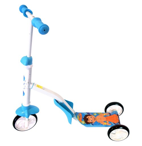 2-IN-1 Chhota Bheem Scooter - Blue