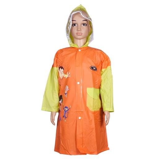 Chhota Bheem Raincoat - Orange