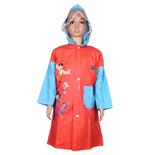 Chhota Bheem Raincoat - Red