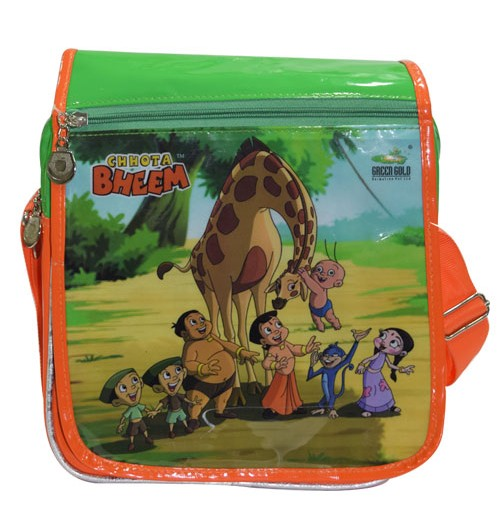 Chhota Bheem Trendy Flap Bag - Green