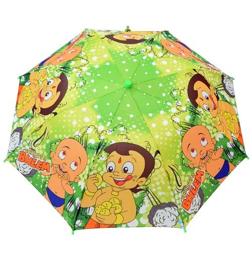Chhota Bheem Umbrella - 2 Folds - Green