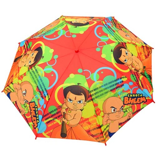 Chhota Bheem Umbrella - 2 Folds - Red