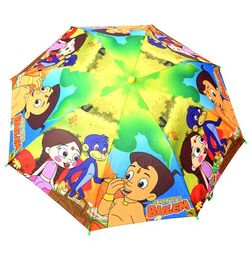 Chhota Bheem Umbrella - 2 Folds - Blue