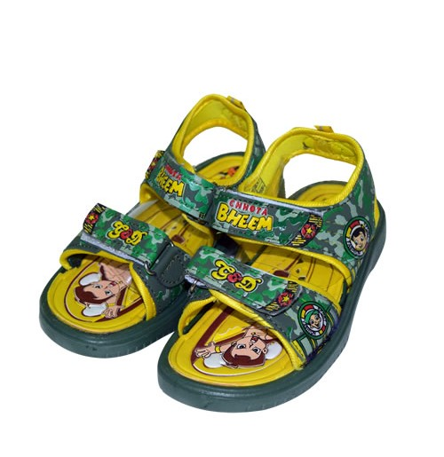 Chhota Bheem Sandal - Mehandi and Yellow