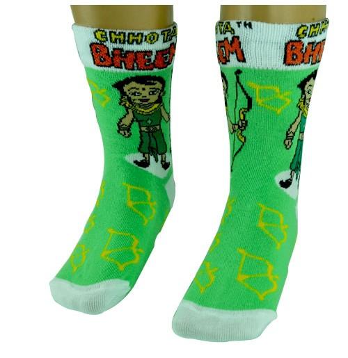 Boys Socks - Full Length - Parrot Green